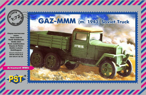 "PST72078   Грузовой автомобиль ГАЗ-МММ (1943)     GAZ MMM M1943 Truck - collaboration between ""PST/Zebrano"" (thumb10178)"