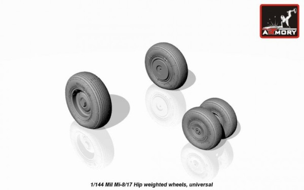 AR AW14006    1/144 Mil Mi-8/17 Hip wheels, weighted (thumb12594)