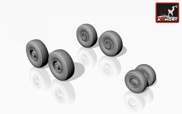 AR AW14302    1/144 Lockheed C-130 Hercules wheels, mid type (thumb12599)