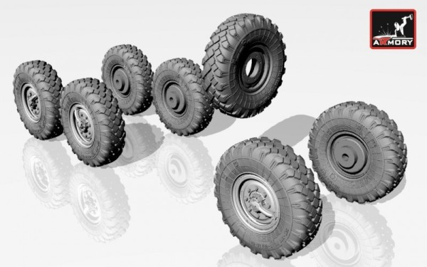 AR AC7257     1/72 ZiL-131 wheels w/ M-93 tires (thumb13025)