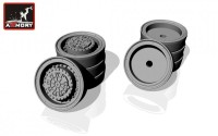 AR AC7319     1/72 Russian «Iskander»/»Bal»/»Bastion» mobile launcher base wheels w/ VI-178AU tires (new tooling) (attach2 13049)