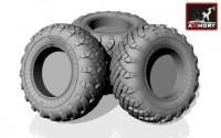 AR AC7319     1/72 Russian «Iskander»/»Bal»/»Bastion» mobile launcher base wheels w/ VI-178AU tires (new tooling) (attach1 13049)