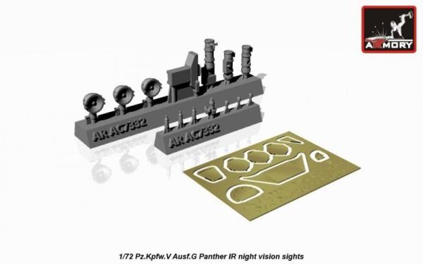 AR AC7332     1/72 Pz.Kpfw.V Ausf.G Panther IR night vision sights (thumb13080)