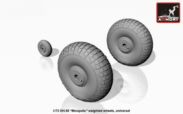 "AR AW72406    1/72 deHavilland DH.98 ""Mosquito"" wheels (thumb12953)"