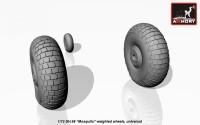 AR AW72406    1/72 deHavilland DH.98 «Mosquito» wheels (attach1 12953)