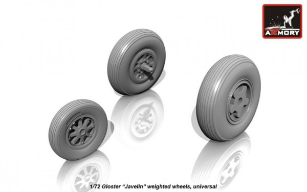"AR AW72407    1/72 Gloster ""Javelin"" wheels (thumb12958)"