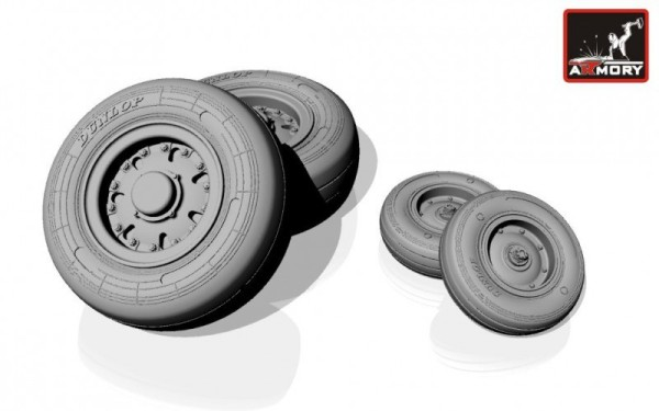 """AR AW72501a    1/72 Panavia """"Tornado"""" wheels, ver.""""a"""" (thumb12961)"""