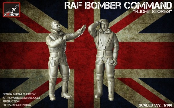 "AR F7224a    ""Flight Stories"" - 1/72 RAF WWII crewmen in high altitude outfit (thumb13131)"