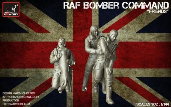 "AR F7224b    ""Friends"" - 1/72 RAF WWII crewmen in high altitude outfit (thumb13135)"