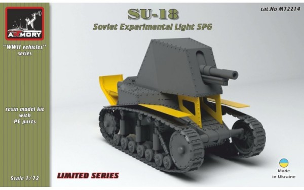 AR M72214      1/72 SU-18 Soviet pre-WWII experimental light SPG (thumb13008)