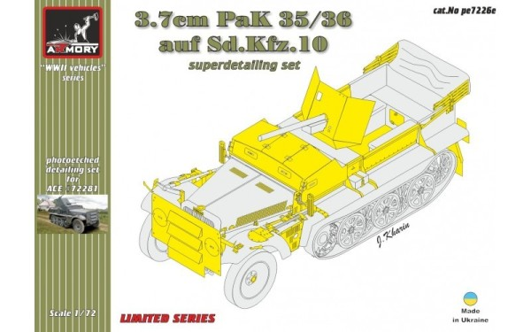AR pe7226e    1/72 37mm PaK 35/36 auf Sd.Kfz 10 detailing set (thumb13089)