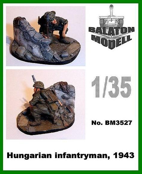 BM3527   Венгерский пехотинец, 1943 виньетка           Hungarian infantryman, 1943 vignette (thumb9051)
