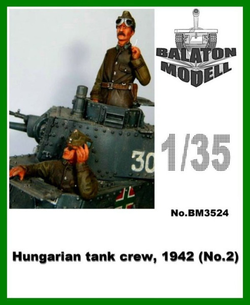 BM3524   Венгерский танковый экипаж 1942 х 2 фигурки (верхняя часть)      Hungarian tank crew, 1942 x 2 half fig. (thumb9049)