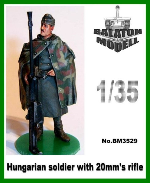 BM3529   Венгерский солдат с 20 мм. Ружьем х 1 фигурка        Hun. Soldier with 20mm's rifle x1 fig. (thumb9055)