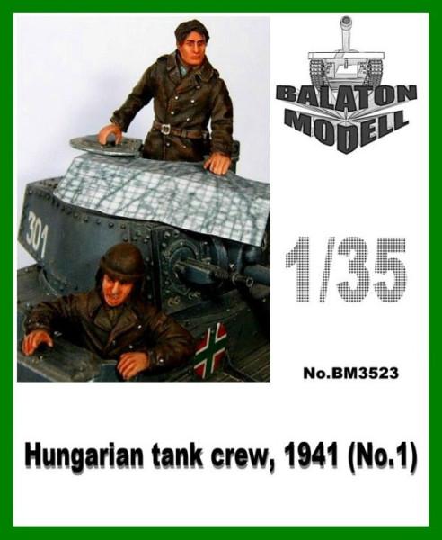 BM3523   Венгерский танковый экипаж 1941 х 2 фигурки (верхняя часть)   Hungarian tank crew, 1941 x 2 half fig. (thumb9047)