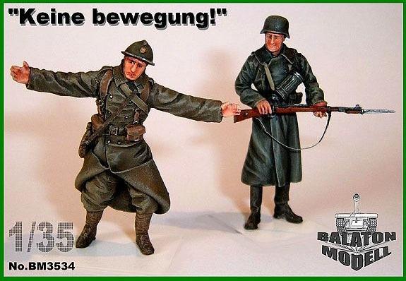 "BM3534   ""Keine b.."" 1940 х 2 фигурки (француз и немец)         ""Keine b.."" 1940, x2 fig. (french&germ.) (thumb9063)"