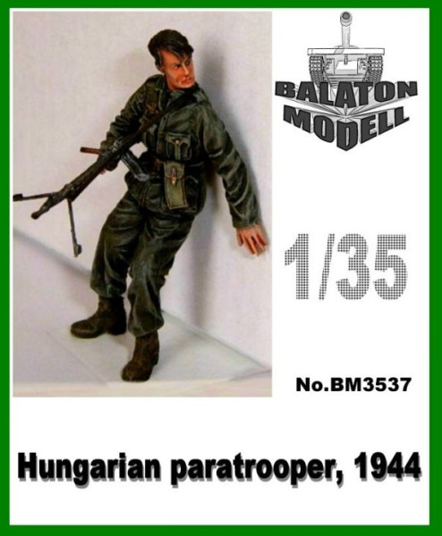 BM3537   Венгерский парашутист х 1 фигурка           Hun. Paratrooper with MG31 x1 fig. (thumb9067)