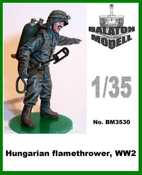 BM3530   Венгерский огнеметчик 2МВ х 1 фигурка            Hun. Flamethrower ww2 x1 fig. (thumb9057)
