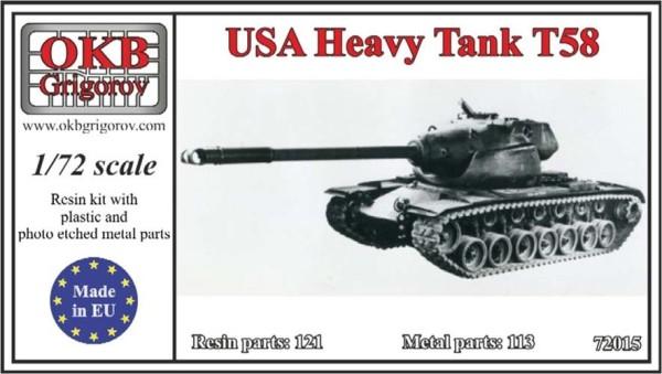 OKBV72015   Американский опытный тяжелый танк Т-58              USA Heavy Tank Т58 (thumb8477)