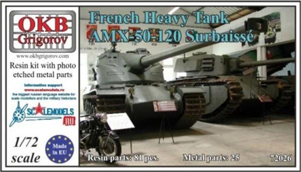 OKBV72026   Французский тяжелый танк AMX-50-120 Surbaiss?                  French Heavy Tank AMX-50-120 Surbaiss? (thumb8495)