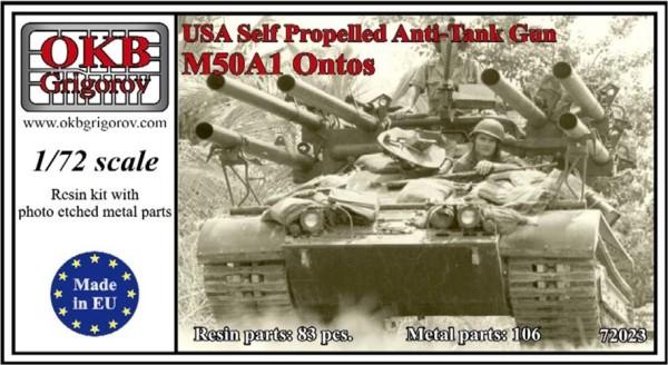 OKBV72023   Американская легкая многоствольная противотанковая САУ M50A1 Ontos           USA Self Propelled Anti-Tank Gun M50A1 Ontos (thumb8489)