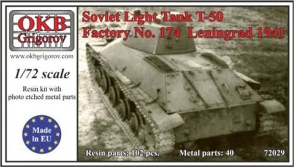 OKBV72029   Советский легкий танк Т-50 производства Ленинградского завода 1941 г.         Soviet Light Tank T-50, Factory No. 174  Leningrad 1941 (thumb8501)