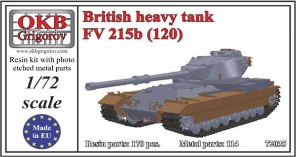 "OKBV72035   Британский ""перспективный"" тяжелый танк FV 215b (120)              British Heavy Tank FV 215b (120) (thumb8513)"