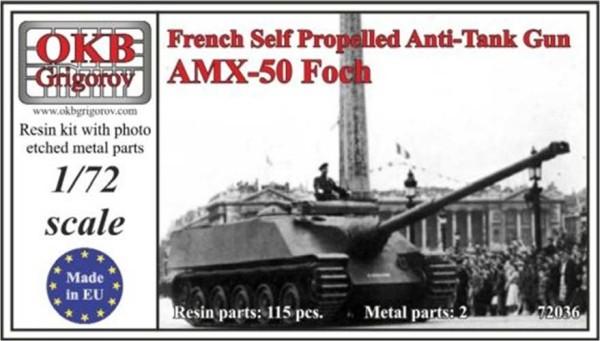 OKBV72036   Французская тяжелая противотанковая САУ AMX-50 Foch                French Self Propelled Anti-Tank Gun AMX-50 Foch (thumb8515)