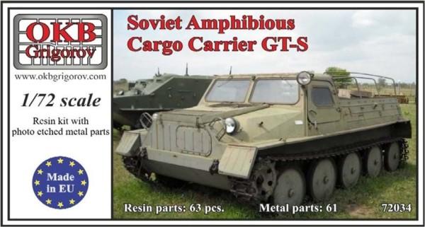 OKBV72034   Советский гусеничный транспортер-тягач ГТ-С ( ГАЗ-47)            Soviet Amphibious Cargo Carrier GT-S (thumb8511)