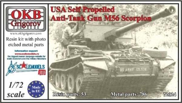OKBV72024   Американская легкая авиадесантная противатанковая САУ M56 Scorpion            USA Self Propelled Anti-Tank Gun M56 Scorpion (thumb8491)
