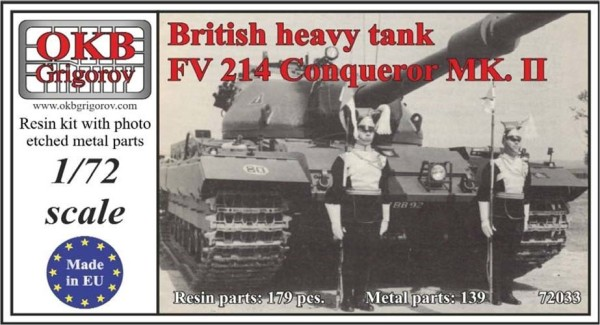 OKBV72033   Британский тяжелый танк FV 214 Conqueror MK. II                     British Heavy Tank FV 214 Conqueror MK. II (thumb8509)