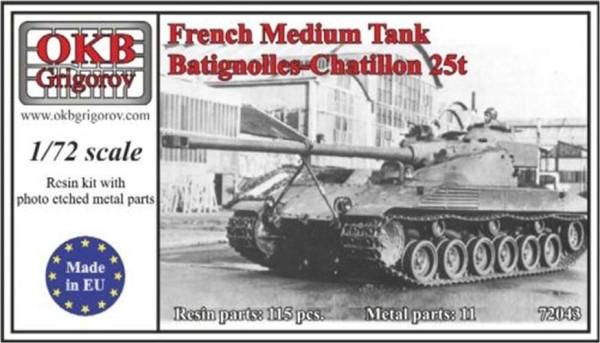 OKBV72043   Французский средний танк Batignolles-Chatillon 25t                   French Medium Tank Batignolles-Chatillon 25t (thumb8529)