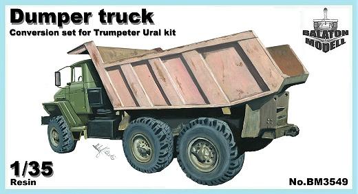 BM3549   Самосвал Урал конверсионный набор для модели Trumpeter     Dump truck conversion set for Trumpeter Ural kit (thumb12129)