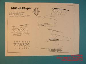 ACEPE4806   Фототравление для модели МИГ-3 от ICM закрылки                                                                     MiG-3 Flaps (Mikoyan Gurievich for 1/48 ICM kit) (attach1 12246)
