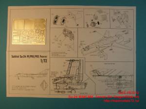 ACEPE7212   Фототравление для модели Su-24 M/MF/MK  Fencer (for Dragon/Bilek kit) (thumb12197)