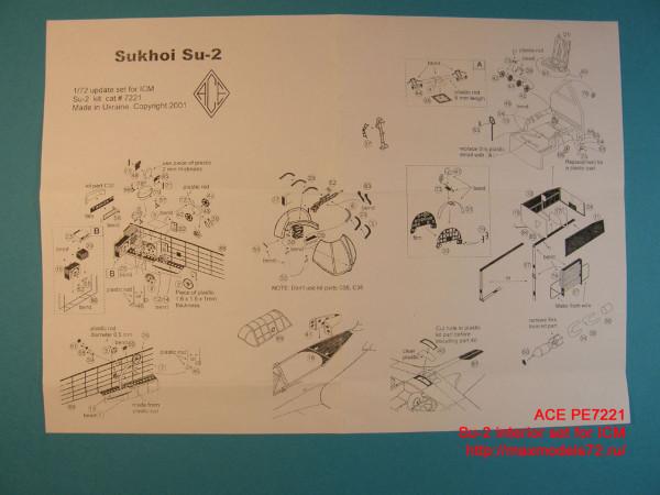 ACEPE7221   Фототравление для модели СУ-2 от ICM интерьер                                                                    Su-2 interior. P.e. update set for ICM kit. (thumb12204)