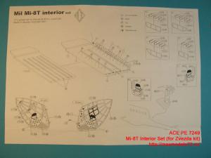 ACEPE7249   Фототравление для модели МИ-8 от ЗВЕЗДЫ интерьер                                                                       Mi-8T Interior Set (for Zvezda kit) (thumb12207)
