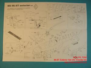 ACEPE7250   Фототравление для модели МИ-8 от ЗВЕЗДЫ экстерьер                                                                       Mi-8T Exterior Set (for Zvezda kit) (thumb12210)