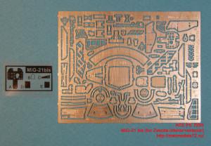 ACEPE 7255   Фототравление для модели МИГ-21бис интерьер, экстерьер                                                   MiG-21 bis (for Zvezda kit, interior+exterior+film for the panel desk) (attach2 12217)