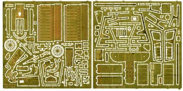 ACEPE 7254   Фототравление для модели МИГ-29-13 от ICM интерьер, экстерьер                                                   MiG-29 9-13 (for ICM kit, two sheets=interior+exterior+film for the panel desk) (thumb12213)