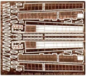 ACEPE7220   Фототравление для модели СУ-2 от ICM закрылки                                                                    Su-2 Flaps. Photo-etched update set for ICM kit. (thumb12200)