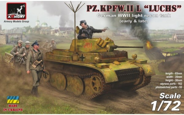 AR 72203         Pz.Kpfw.II Ausf.L Luchs German WWII light recon tank, early&late (thumb14242)