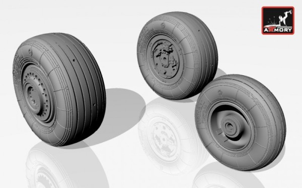 AR AW32003   1/32 Sukhoj Su-25 Frogfoot wheels (thumb12307)