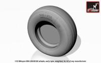 AR AW32006   1/32 Mikoyan MiG-29A/B/UB Fulcrum wheels, early, weighted (attach1 12316)