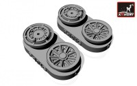 AR AW32301   1/32 F-104G Starfighter wheels, w/ optional nose wheels, weighted (attach2 12321)