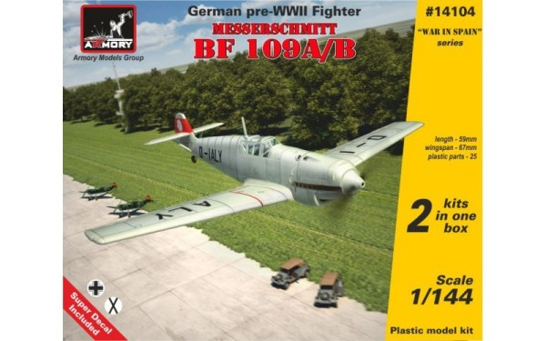 AR14104    1/144 Messerschmitt Bf 109A/B, German pre-WWII fighter (thumb12565)