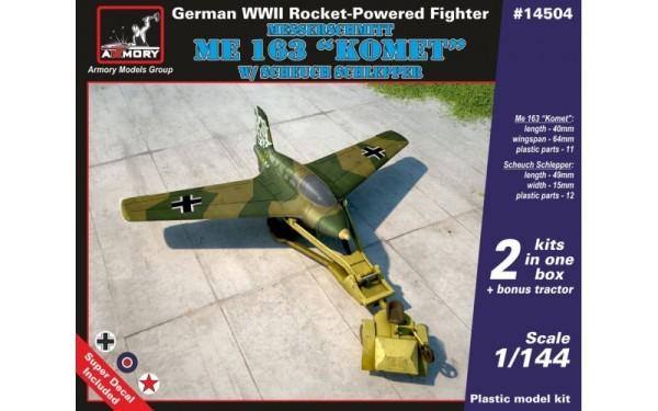 """AR14504    1/144 Messerschmitt Me 163B """"Komet"""" w/ Scheuch Schlepper (thumb12576)"""