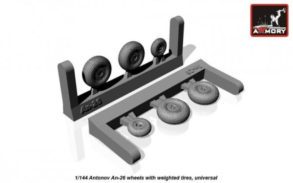 AR AW14004    1/144 Antonov An-26 wheels (thumb12587)