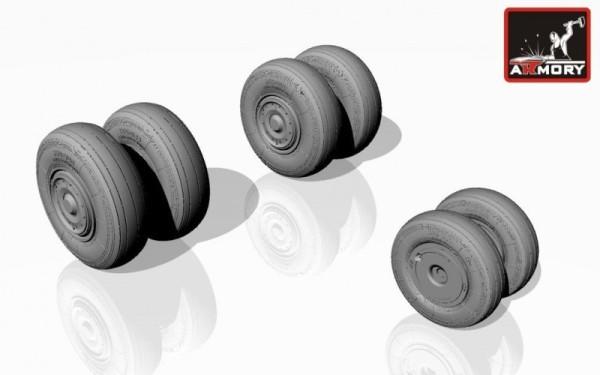 AR AW48018   1/48 Sukhoj Su-24 Fencer wheels, late (thumb12401)