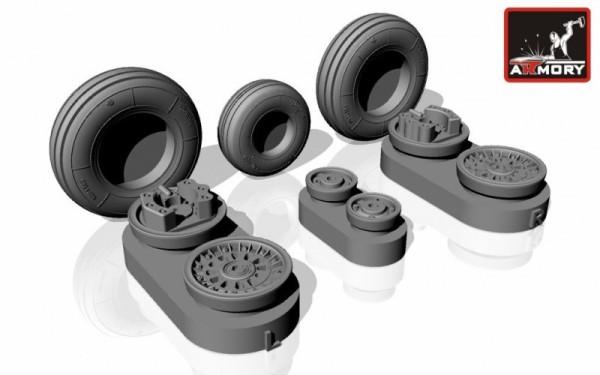 AR AW48019   1/48 AERO L-39 Albatros wheels (thumb12406)